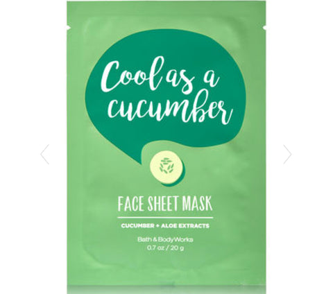 Bath & Body Works Cool As A Cucumber Face Mask