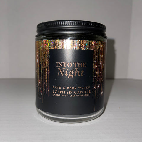 Bath & Body Works Single Wick Into the Night Candle