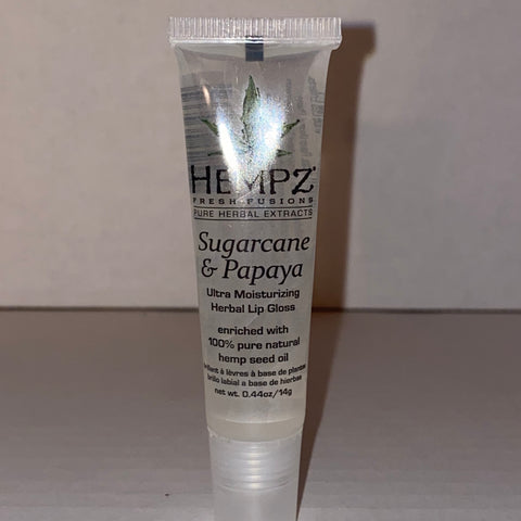 Hempz Sugarcane & Papaya Exfoliating Herbal Lip Gloss