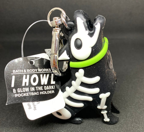 Bath & Body Works Howling Skeleton Dog  Pocketbac Holder