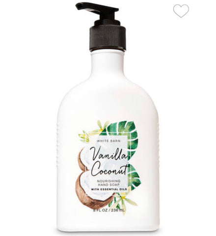 Bath & Body Works Vanilla Coconut  Hand Soap
