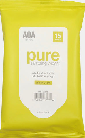 AOA Pure Sanitizing Wipes - Lemon