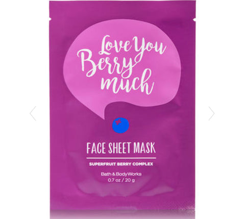 Bath & Body Works Love You Berry Face Mask