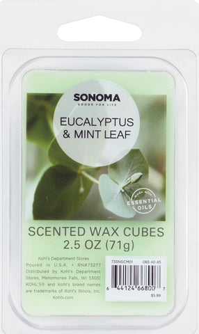 SONOMA Goods for Life® Eucalyptus & Mint Leaf Wax Melt 6-piece Set