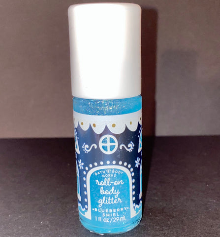 Bath & Body Works Roll On Body Glitter Blueberry Swirl