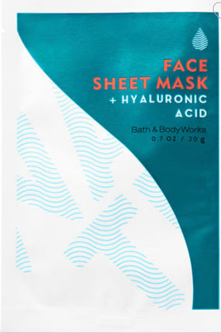 Bath & Body Works Face Sheet Mask Hyaluronic Acid Face Mask