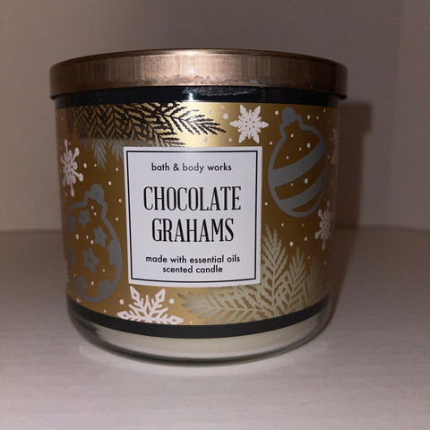 Bath & Body Works Chocolate Graham 3 Wick Candle