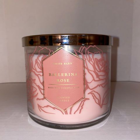 Bath & Body Works Ballerina Rose 3 Wick Candle