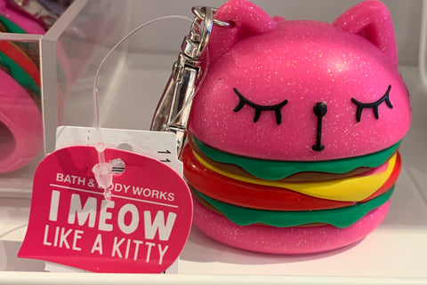 Bath & Body Works Meowing Hamburger Cat  Pocketbac Set