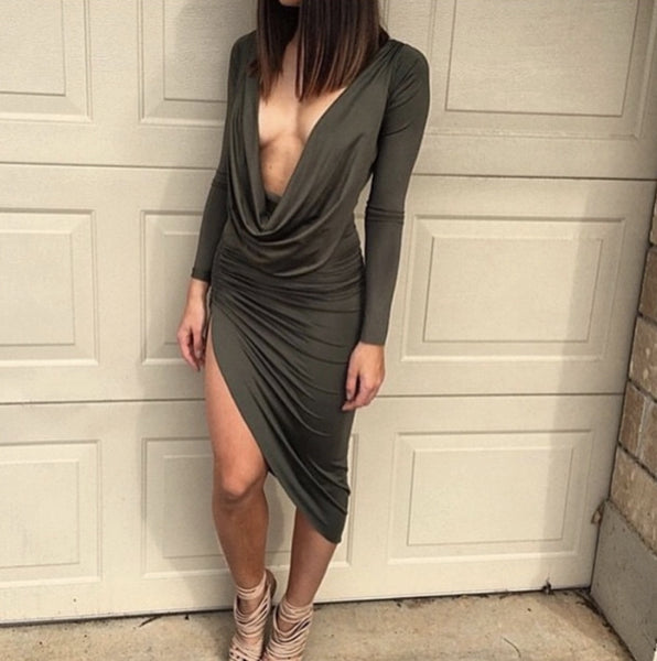 Empire Bodycon Cleavage Dress