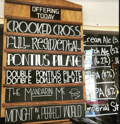 Beer Church Offering Today Taplist