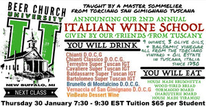 Italian Wine School 30 January 2020 Beer Church University Ticket Portal