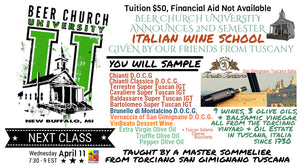 Italian Wine School 11 April 2018 Beer Church University Ticket Portal