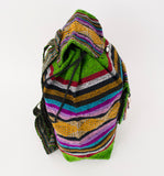 "Mexican ""Mossy Oak"" Moss Green Backpack Lillo Boho Woven Baja Bag"