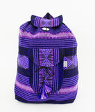 "Mexican ""Magic"" Purple Amethyst Backpack Lillo Boho Woven Baja Bag"