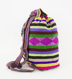 "Mexican ""Network"" Green with Illillo Backpack Lillo Boho Woven Baja Bag"