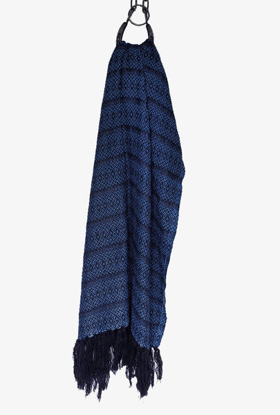 Mirage Blue Merida Rebozo Shawl Mexican Woven Blanket