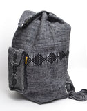 "Mexican ""Ash"" Grey merage Backpack Lillo Boho Woven Baja Bag"