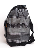 "Mexican ""Coal"" Grey Backpack Lillo Boho Woven Baja Bag"