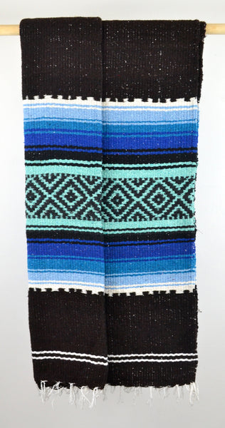 Mexican Blanket Throw | Multicolor | Chunky Knit Handmade Folk Blanket