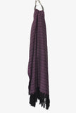 Purple Amethyst Merida Rebozo Shawl Mexican Blanket