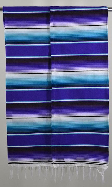 Mexican Blanket Saltillo Style Multi-color Handmade Serape Premium Fabric