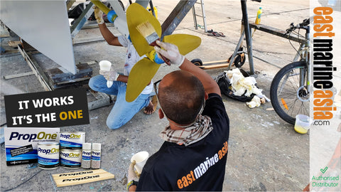PropOne Propellers Coating for S/Y Lochmarin