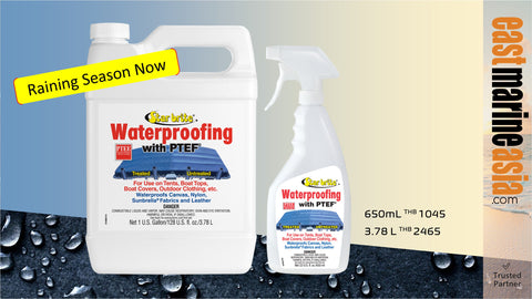 Waterproof Your Tent, Canvas, Boat Top etc during This Raining Season with Star brite Waterproofing with PTEF
