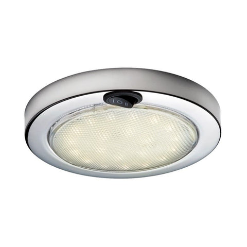 Aqua Signal Colombo LED Red / White Angular Stainless Steel Dome Light