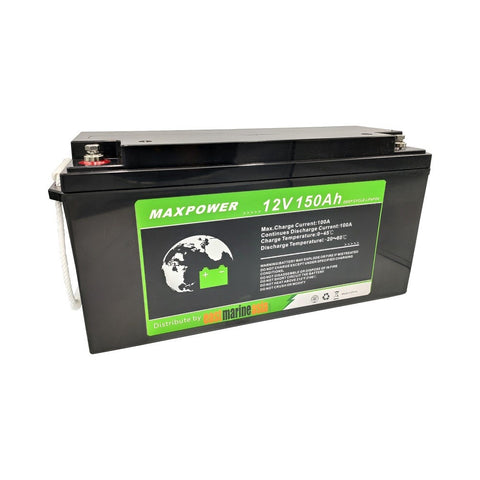 EMA MaxPower 150Ah LiFePO4 Deep Cycle Lithium Battery with Built-in Battery Management System