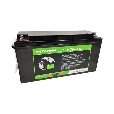 EMA MaxPower 200Ah LiFePO4 Deep Cycle Lithium Battery with Built-in Battery Management System