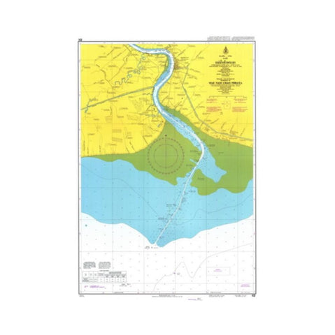 Marine Chart Thailand (Gulf of Thai - East) 112 Entrance to Mae Nam Chao Pharaya
