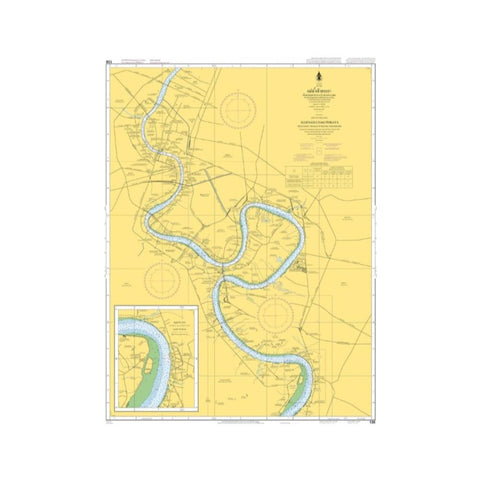 Marine Chart Thailand (Gulf of Thai - East) 138 Samut Prakan to Krung Thon Bridge