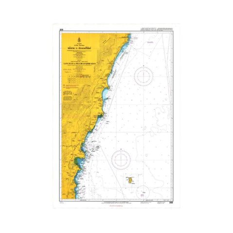 Marine Chart Thailand (Gulf of Thai - West) 203 Lang Suan to Prachuap Khiri Khan