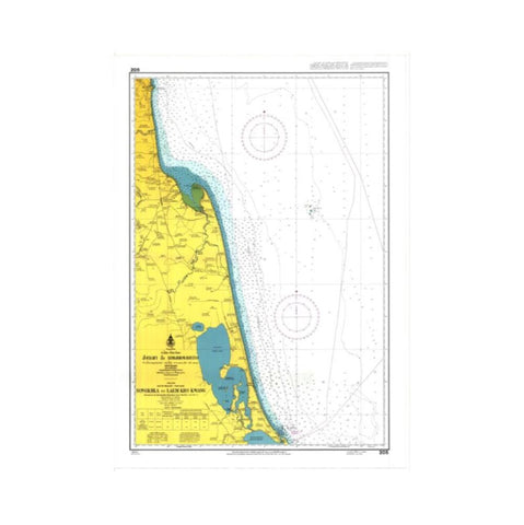 Marine Chart Thailand (Gulf of Thai - West) 205 Songkhla to Laem Kho Kwang