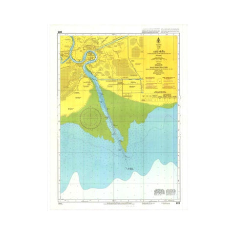 Marine Chart Thailand (Gulf of Thai - West) 222 Entrance to Mae Nam Tha Chin
