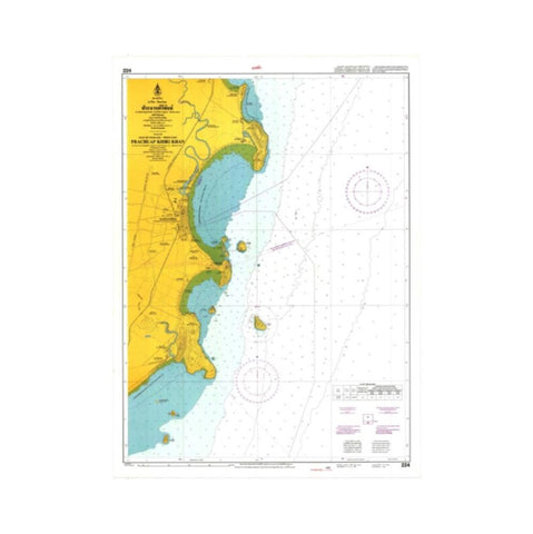 Marine Chart Thailand (Gulf of Thai - West) 223 Entrance to Mae Nam Mae Klong