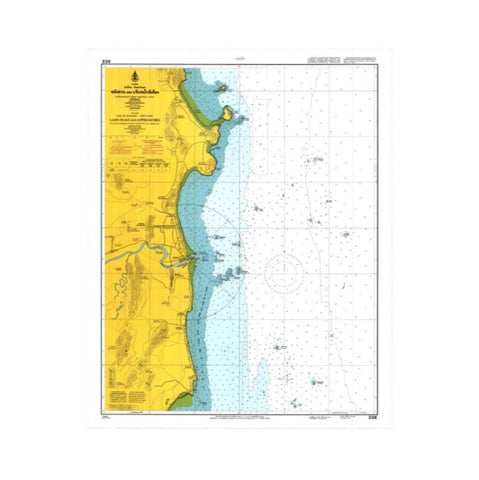 Marine Chart Thailand (Gulf of Thai - West) 226 Lang Suan and Approaches
