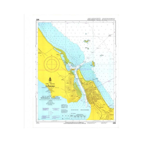 Marine Chart Thailand (Gulf of Thai - West) 229 Entrance to Songkhla Harbour