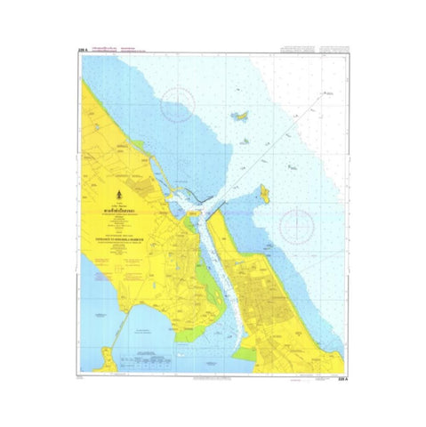 Marine Chart Thailand (Gulf of Thai - West) 229A Songkhla Harbour
