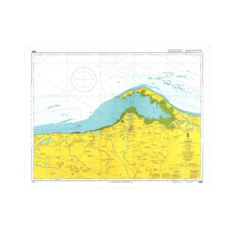Marine Chart Thailand (Gulf of Thai - West) 230 Ao Pattani