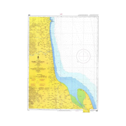 Marine Chart Thailand (Gulf of Thai - West) 244 Pak Phanang to Laem Kho Kwang