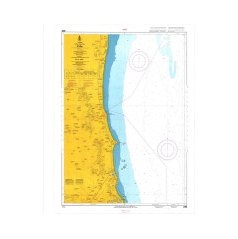Marine Chart Thailand (Gulf of Thai - West) 246 Hua Hin