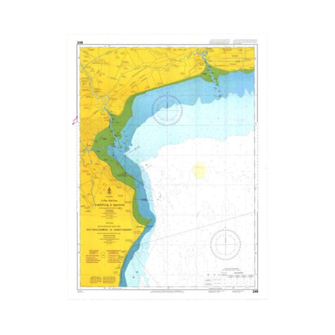 Marine Chart Thailand (Gulf of Thai - West) 248 Hat Chao Samran to Samut Sakhon