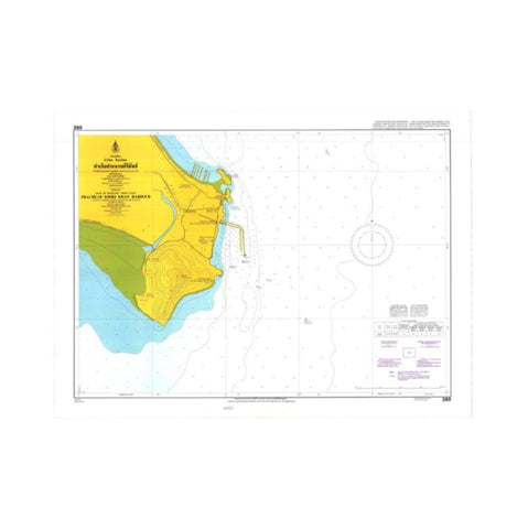Marine Chart Thailand (Gulf of Thai - West) 260 Prachuap Khirkhan Port