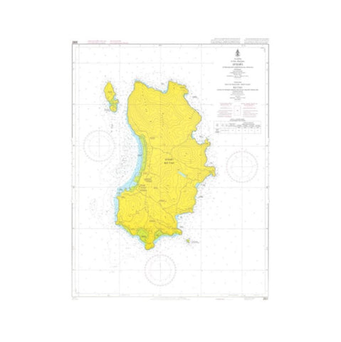 Marine Chart Thailand (Gulf of Thai - West) 265 Ko Tao
