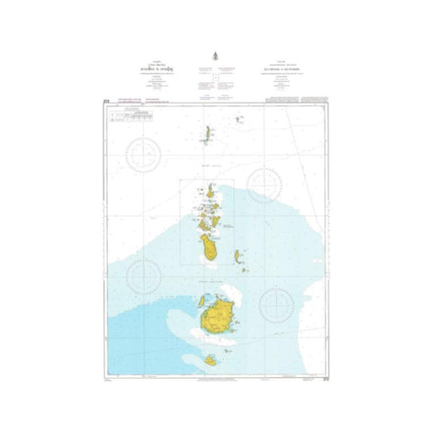 Marine Chart Thailand (Gulf of Thai - West) 272 Ko Chueak to Ko Tungku