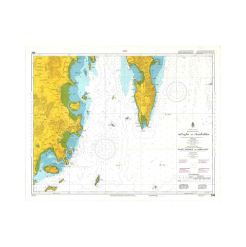 Marine Chart Thailand (Andaman) 334 Phuket Harbour and Approaches
