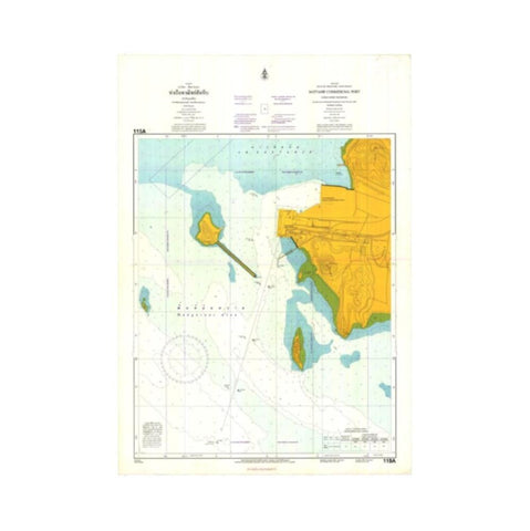 Marine Chart Thailand (Gulf of Thai - East) 115A Sattahip Commercial Port (Chuk Samet Harbour)