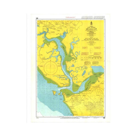Marine Chart Thailand (Gulf of Thai - East) 119 Mae Nam Wen and Entrance